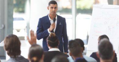 Förbättra retorik och tal företagsforumet
